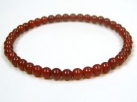 4.5mm round red agate bracelet