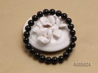 8mm black round  agate bracelet