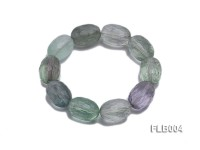 13x18mm Oval Faceted Fluorite Elasticated Bracelet