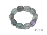 13x18mm Oval Faceted Fluorite Elasticated Bracelet