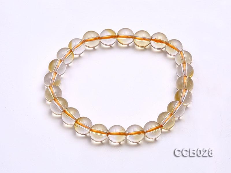 8mm Round Citrine Beads Elastic Bracelet