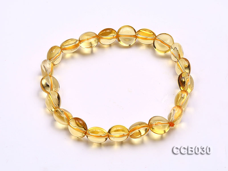 5x9mm Button-shaped Beads Elastic Bracelet