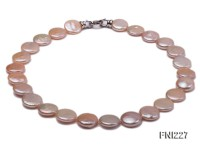 Classic 16-17mm Pink Button Freshwater Pearl Necklace