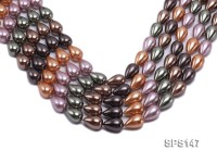 Wholesale 12x18mm Drip-shaped Multi-color Seashell Pearl String
