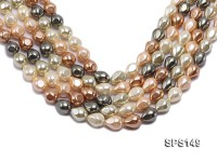 Wholesale 12x18mm Multi-color Prismatic Seashell Pearl String