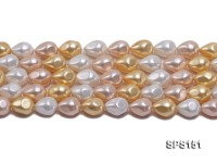 Wholesale 12×15.5mm Multi-color Prismatic Seashell Pearl String