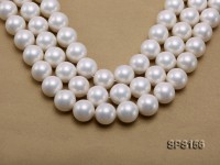 Wholesale Super-size 20mm White Round Seashell Pearl String