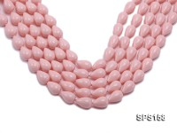 Wholesale 11.5×18.5mm Pink Drip-shaped Seashell Pearl String