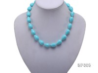 12mm blue drip-shape south seashell pearl necklace