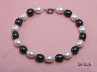 15x19mm white and black south seashell pearl necklace