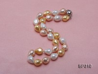 12x16mm drip-shape south seashell pearl necklace