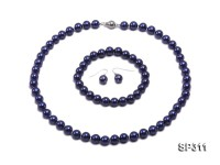 8mm Navy Blue Shell Pearl Set