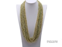 green 4-5mm 20-string freshwater pearl necklace