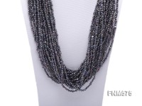 Grey 4-5mm chunky freshwater pearl necklace