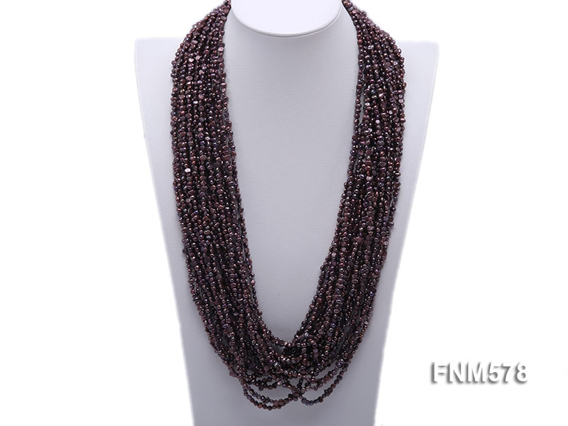 Coffee 4-5mm chunky freshwater pearl necklace