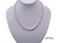 8mm pinkish white seashell pearl necklace bracelet earring set