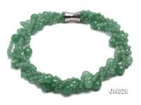 Round Light Green Four-Strand Aventurine Jade Necklace
