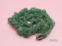 Round Light Green Four-Strand Aventurine Jade Necklace