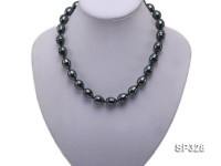 12×15.5mm Dark Green Sea Shell Pearl Necklace