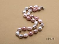 12.5×15.5mm Multicolor Sea Shell Pearl Necklace