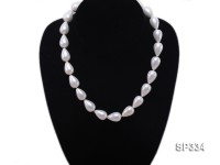 12×17.5mm White Sea Shell Pearl Necklace