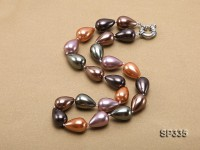 12×17.5mm Black Sea Shell Pearl Necklace