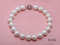 20mm white round south seashell pearl necklace