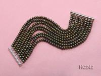 8 Strand 5mm Yellow Freshwater Pearl Bracelet