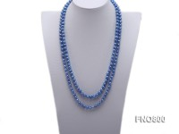 6.5×7.5mm Blue Freshwater Pearl Necklace