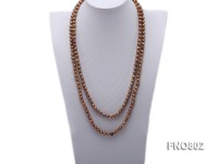 Golden Freshwater Pearl Opera Necklace