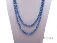 Blue Freshwater Pearl Long Necklace
