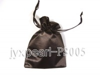 Delicate Black Silk Jewelry Pouch