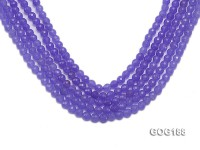 Wholesale 6mm Blue Round Faceted Gemstone String