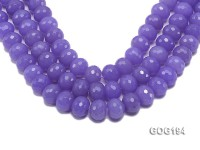 Wholesale 18mm Blue Round Faceted Gemstone String