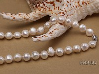 Freshwater cultured 8-9mm natural white pearl necklace with pendant