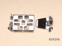 12.5x16mm Rectangular 18K Gold-plated Clasp