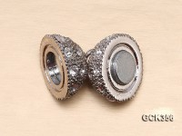 12mm 18K Gold-plated Magnetic Ball Clasp Inlaid with Shiny Zircons