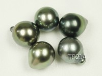 Tahitian Pearl–AA-grade 11-13.5mm Drop-shaped Natural Black Pearl