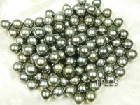 Tahitian Pearl–Top Grade AAA 11.5mm Natural Black Round  Pearl