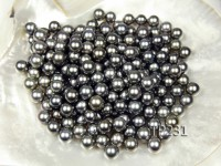 Tahitian Pearl–Top Grade AAA 10.5mm Natural Black Round Pearl