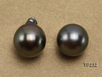 Tahitian Pearl–Top Grade AAA 12X13-13X16mm Natural Black Near Round Pearl