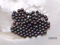 Round Freshwater Pearl Wholesale—AAA 6mm Round Black Pearl