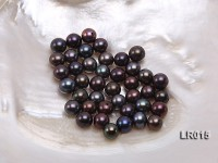 Round Freshwater Pearl Wholesale—AAA 8-8.5mm Round Black Brown Pearl
