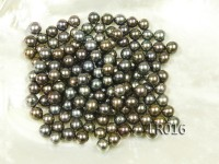 AAA-grade 8-8.5mm Black Round Loose Freshwater Pearl