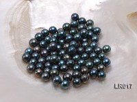 AAA-grade 6.5-7mm Black Round Loose Freshwater Pearl