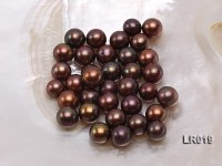 AAA-grade 10-11mm Coffee Brown Round Loose Freshwater Pearl