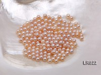 Round Pearl Wholesale—AA-grade 5mm Round Natural Pink Pearl