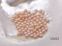 Round Pearl Wholesale—AAA Shiny 6.5mm Round Natural Pink Pearl