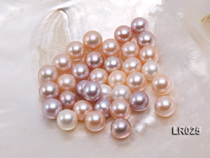 AAA-grade Gorgeous 11-12mm Round Natural Pink/Lavender Loose Freshwater Pearl
