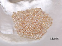 High-quality 3mm Round Cream/Lavender Loose Freshwater Pearl